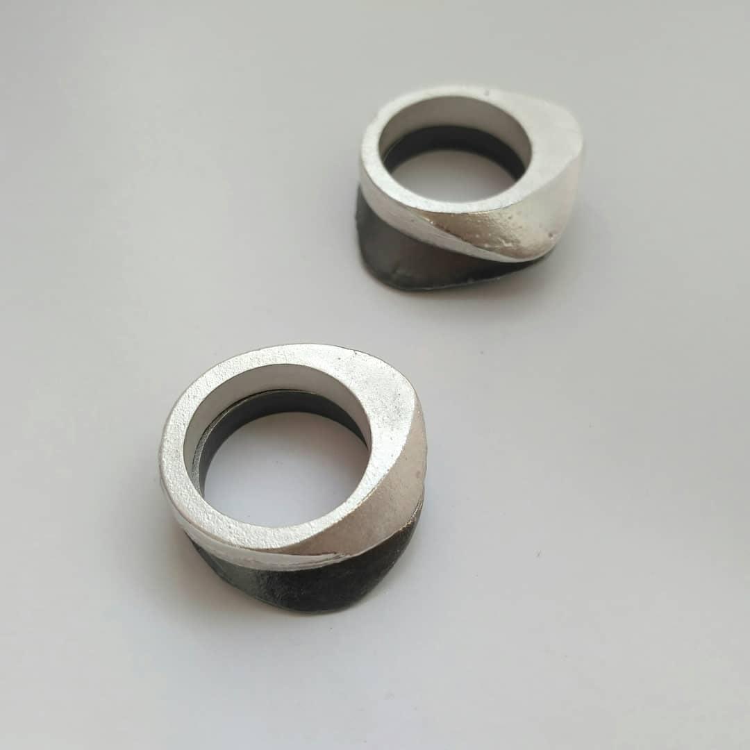 Sandguss-Ringe / Silber